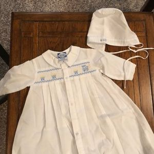 Carriage Boutiques Newborn Train Smocked Gown